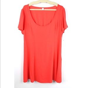Old Navy Coral Dress Size XL Elastic Back Linen